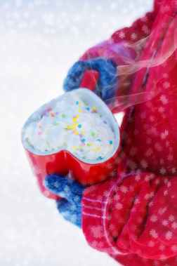 heart mug winter hot chocolate