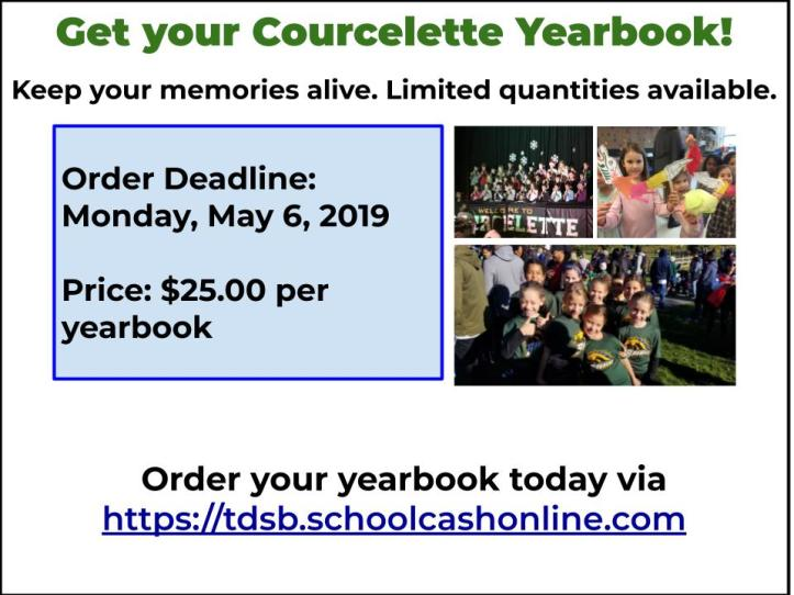 Courcelette Yearbook copy